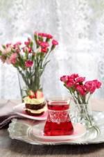 6 Parça Çay Seti Tatlı Hatıralar Dantela Pembe LV-DANTELAPMBS1