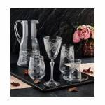 Pinkev 31 Parça Gümüş Cam Su Kadeh Meşrubat Çay Bardağı Bardak Takımı Çeyiz Seti (Pe-6328P) K2